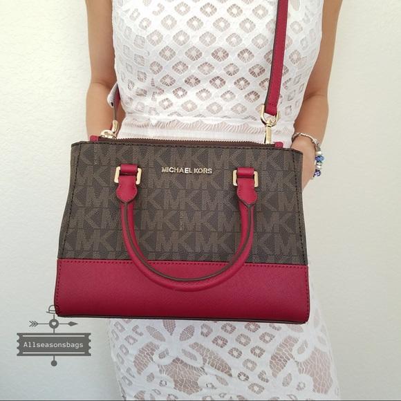 df034548ac5d5e Michael Kors Bags | Kellen Xs Satchel Handbag Cherry Nwt | Poshmark
